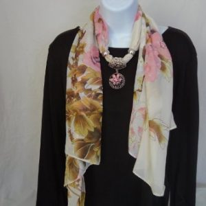 Scarves with Jewelry
